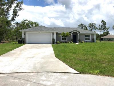 Port Saint Lucie Single Family Home For Sale: 5483 NW Carla Court