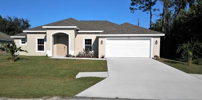 Port Saint Lucie Single Family Home For Sale: 3266 SE Quay Street