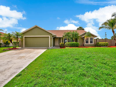 Port Saint Lucie Single Family Home For Sale: 1733 SW Commargo Street