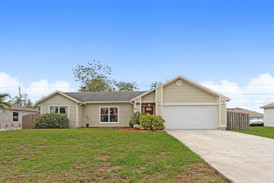 Port Saint Lucie Single Family Home For Sale: 4268 SW Jared Street
