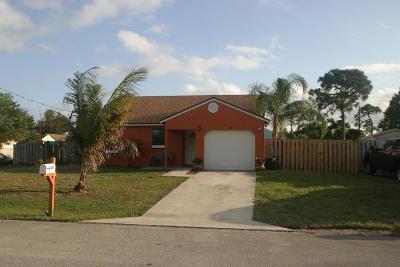Stuart Single Family Home For Sale: 5120 SE Dell Street