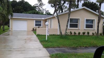 Lake Worth Single Family Home For Sale: 7287 Pine Park Drive