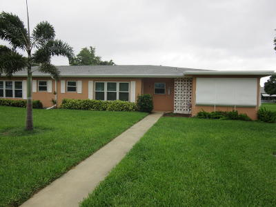 Boynton Beach FL Single Family Home For Sale: $78,900