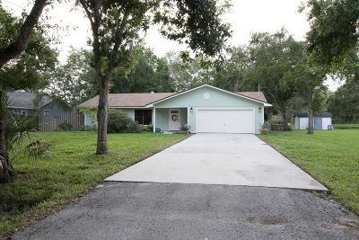 Fort Pierce Single Family Home For Sale: 4711 Buchanan Drive