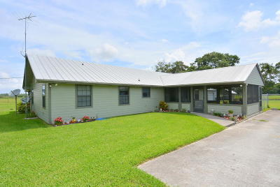 Fort Pierce Single Family Home For Sale: 6210 Russakis Road