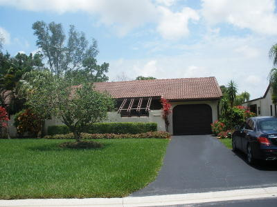 Boca Raton Single Family Home Contingent: 21682 Arriba Real #41-B
