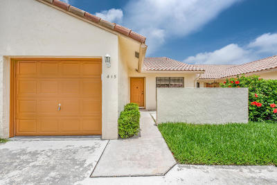 Boca Raton Single Family Home For Sale: 415 Cottonwood Place