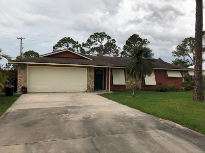 Sebastian Single Family Home For Sale: 155 Harris Drive