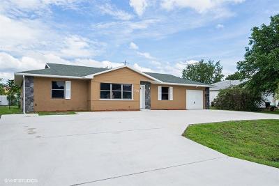 Port Saint Lucie Single Family Home Contingent: 135 SW Ridgecrest Drive