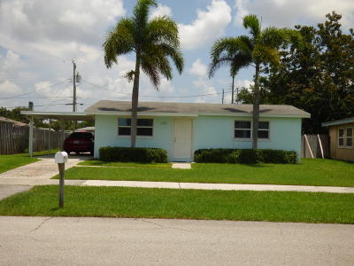 Royal Palm Beach Single Family Home Contingent: 630 Hibiscus Drive