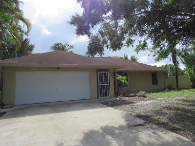 Port Saint Lucie Single Family Home Contingent: 2409 SW Barber Lane