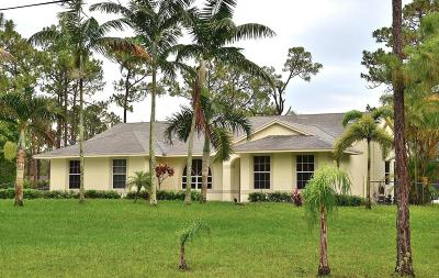 West Palm Beach Single Family Home For Sale: 12640 58th Place