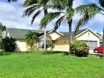 Port Saint Lucie Single Family Home Contingent: 441 SE Evans Avenue