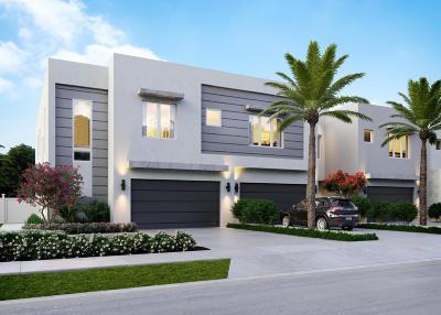 Delray Beach Townhouse For Sale: 820 NE 7th Avenue