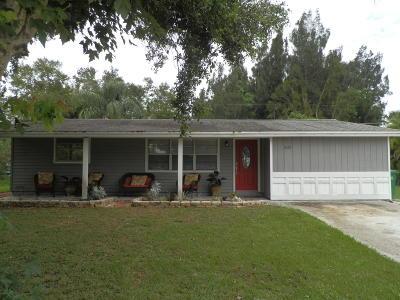Sebastian Single Family Home For Sale: 425 Englar Drive
