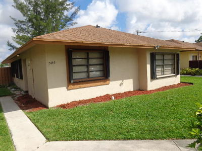 West Palm Beach Single Family Home For Sale: 5445 Garden Hills Circle