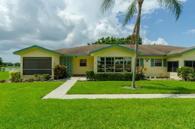 Delray Beach Single Family Home For Sale: 5360 Lakefront Boulevard #B