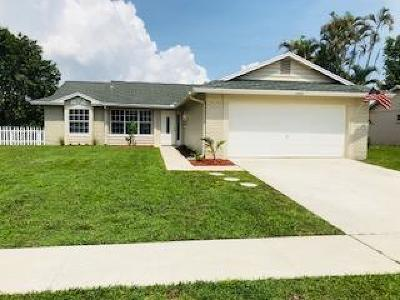 Royal Palm Beach Single Family Home Contingent: 1342 Thornbank Lane Lane