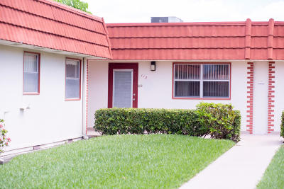 Delray Beach Single Family Home For Sale: 112 Seville Drive #D