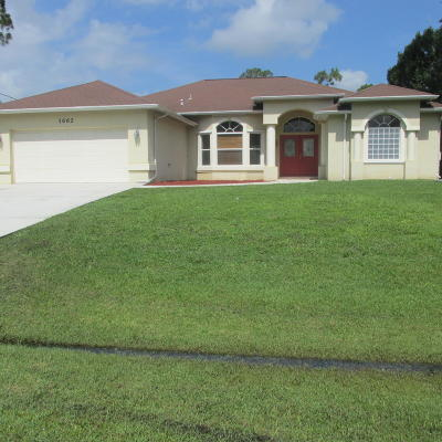 Port Saint Lucie Single Family Home Contingent: 1662 SW California Boulevard