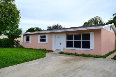 West Palm Beach Single Family Home For Sale: 1367 13th Street