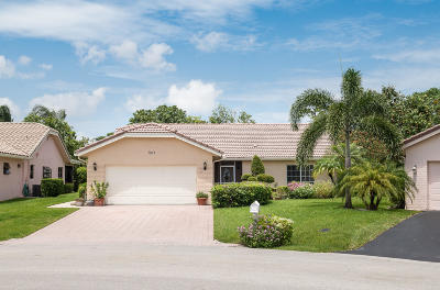 Boca Raton Single Family Home Contingent: 7812 Cloverfield Circle
