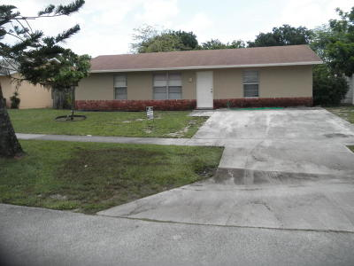 West Palm Beach Single Family Home Contingent: 5916 Bahama Court