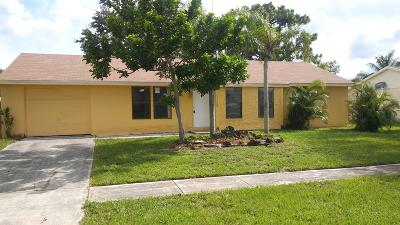 Royal Palm Beach Single Family Home Contingent: 10115 Yeoman Lane