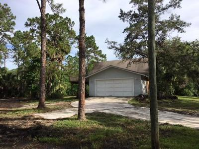 Jupiter Single Family Home For Sale: 15611 Haynie Lane