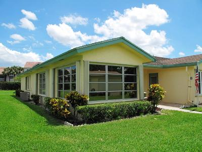 Delray Beach Single Family Home For Sale: 5126 Lakefront Boulevard #A