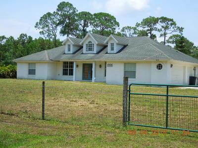 Loxahatchee Single Family Home For Sale: 18065 92nd Lane