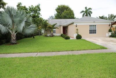 Royal Palm Beach Single Family Home For Sale: 1476 Thornridge Lane