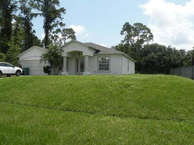 Port Saint Lucie Single Family Home Contingent: 1865 SW Davis Street