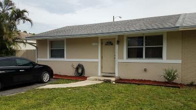 Greenacres FL Single Family Home For Sale: $152,000