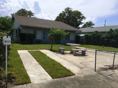 Lake Worth Single Family Home For Sale: 1509 S K Street