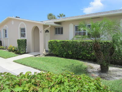West Palm Beach Single Family Home For Sale: 2784 Dudley Drive E #C