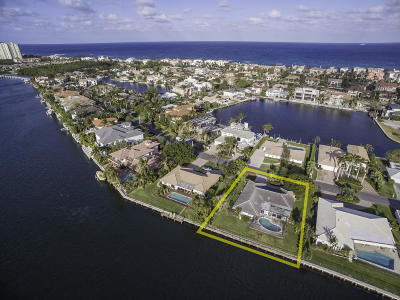 Highland Beach Single Family Home For Sale: 4320 Intracoastal Drive