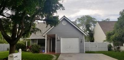 Lake Worth Single Family Home For Sale: 2995 Monterey Pine Lane