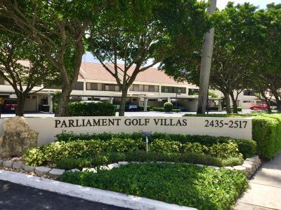 West Palm Beach Townhouse For Sale: 2501 Presidential Way #B