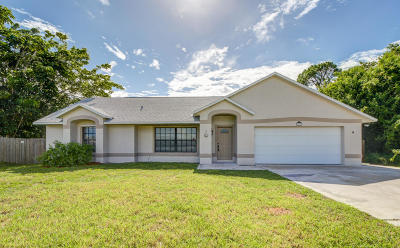Port Saint Lucie FL Single Family Home For Sale: $239,900