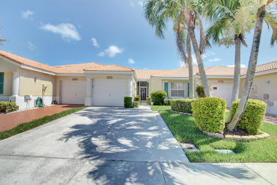 Delray Beach Single Family Home For Sale: 6092 Floral Lakes Drive