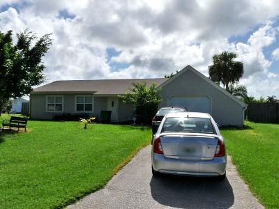 Port Saint Lucie Single Family Home For Sale: 1634 SE Higdon Court