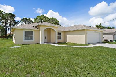 Port Saint Lucie, Saint Lucie West Single Family Home For Sale: 1170 SW Hunnicut Avenue