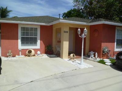 West Palm Beach Single Family Home For Sale: 5106 Parker Avenue