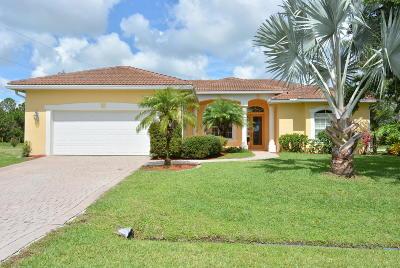 Port Saint Lucie, Saint Lucie West Single Family Home For Sale: 1702 SW Arch Street