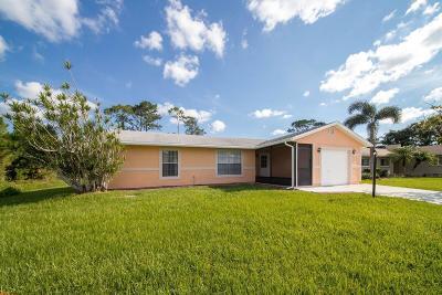 Port Saint Lucie Single Family Home For Sale: 607 SE Capon Terrace
