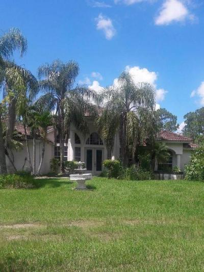 Loxahatchee Single Family Home For Sale: 16032 86th Street