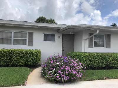 West Palm Beach Single Family Home For Sale: 2825 Crosley Drive E #D