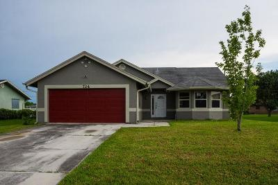 Port Saint Lucie Single Family Home For Sale: 724 NW Bayard Avenue
