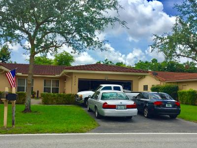 Coral Springs Single Family Home For Sale: 8150 NW 40th Street